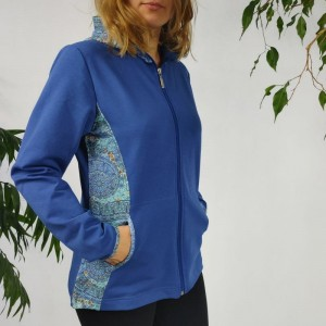 Bluza z kapturem - BLUE - 305